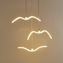Modern LED Pendant Light For Living Room/Dining White Pendant Lamp for Coffee House Bedroom Suspension Acrylic Seagull Lighting(China)