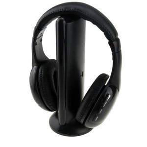 Image 5 - หูฟังไร้สายไร้สาย RF MIC สำหรับ PC TV DVD CD MP3 MP4 5 in 1 ชุดหูฟังสเตอริโอไร้สาย