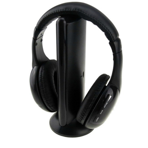 Image 5 - Wireless Headphone Cordless RF Mic for PC TV DVD CD MP3 MP4 5 in 1 Wireless Stereo Headset