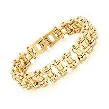 купить Bracelet Titanium Steel Man Bracelet Rock Personality Locomotive Chain Bicycle Bracelet по цене 403.16 рублей