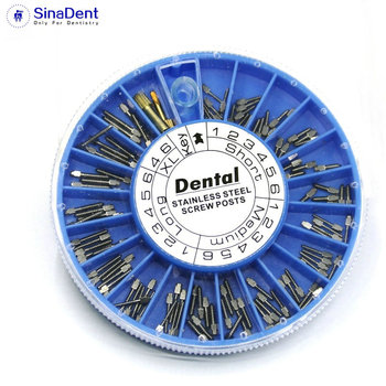 dental Dental STAINLESS STEEL Screw Post 120pcs&2Key Dental Screw Post Dental Supplies dental materials for Dentistry