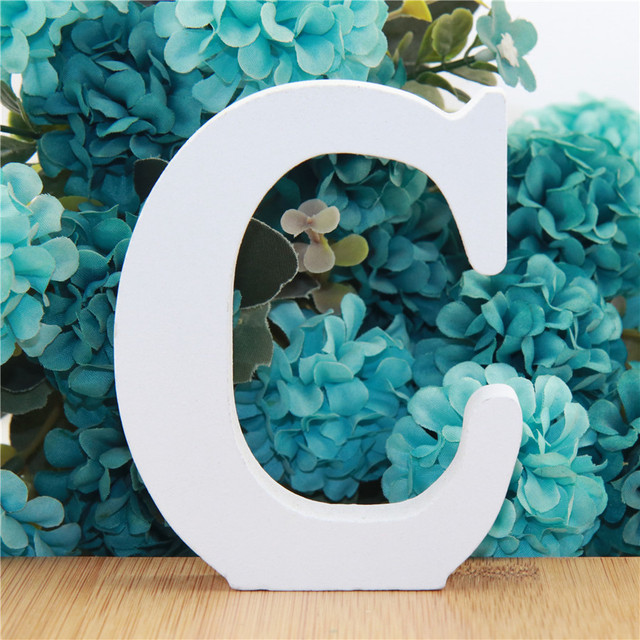 1pc 10cm White Wooden Letters Alphabet DIY Word Letter Party Wedding Home Decor Name Design Art Crafts Standing 3.94 Inches 3