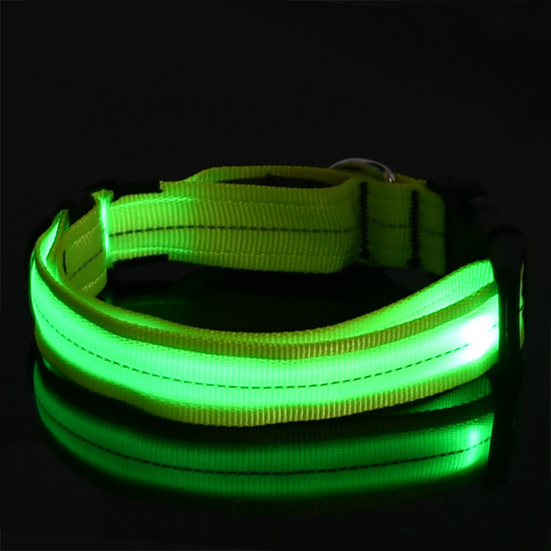 Amazon Supply Of Goods 2018 New Style USB Charging Reflective Dog Neck Ring Night Light Collar Anti-Lost Currently Available Who