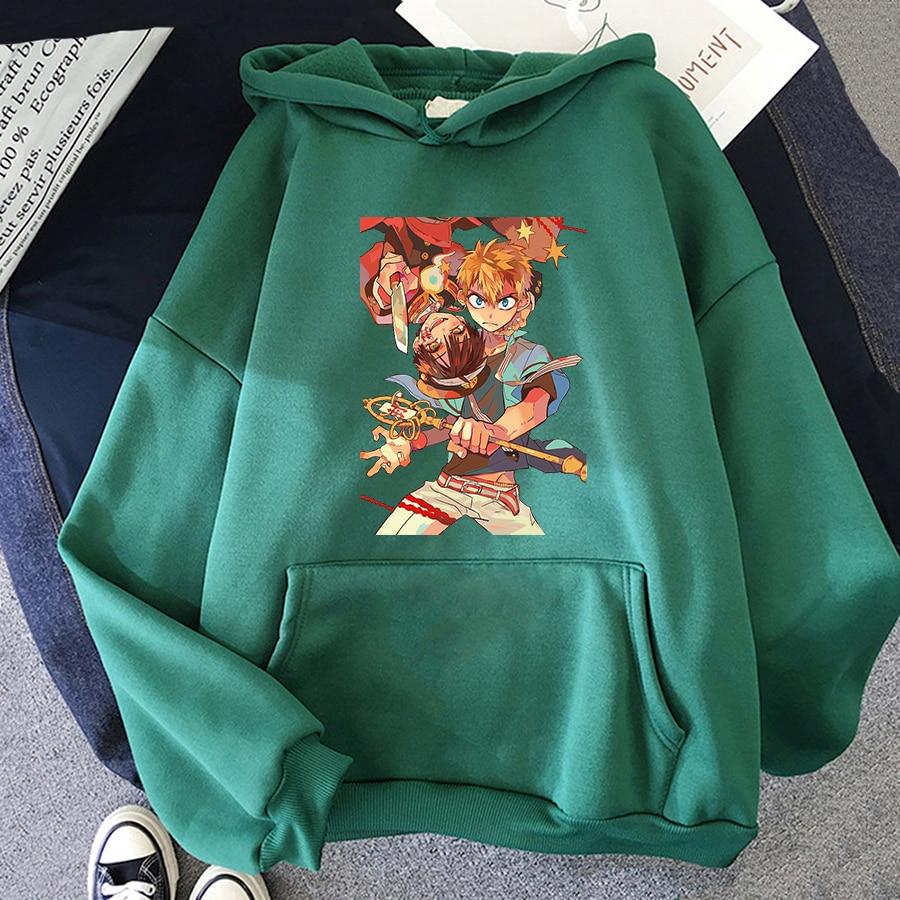 Jibaku Shounen Hanako kun Harajuku Womens Hoodie Fashion Fleece Hoodies Casual Clothes Street Loose Female Sweatshirt 23