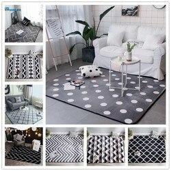Novo cristal cashmere tapetes para sala de estar dos desenhos animados crianças quarto tapetes e tapetes mesa café área tapete crianças jogar
