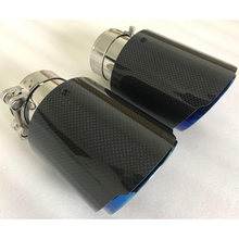 1PC Single Car Exhaust tip Blue Pipe Glossy  Plain Carbon Muffler pipe for CX-4 E71