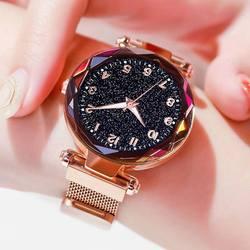 Роскошные Светящиеся женские часы Звездное небо магнитные женские наручные часы водостойкие часы со стразами relogio feminino montre femme