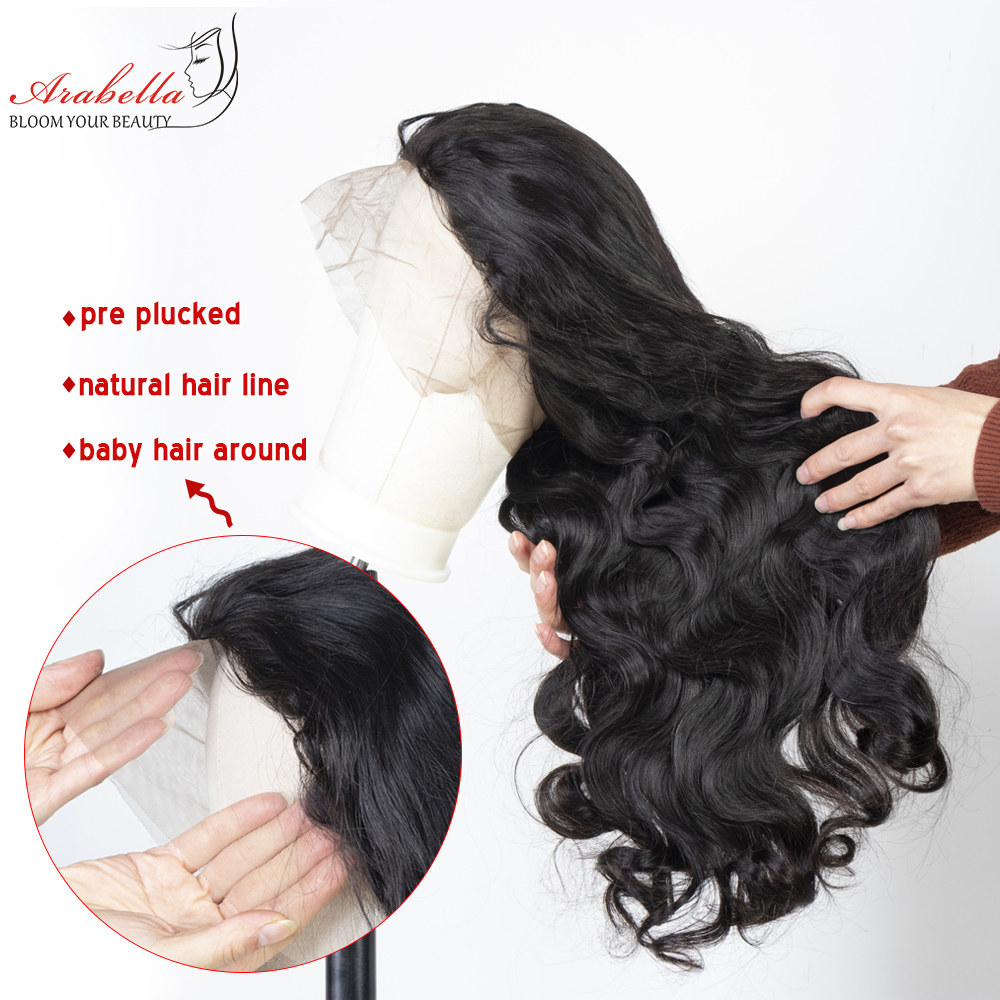 360 Lace Frontal Wig 100%  Wigs Body Wave Wig Pre Plucked  180% Density Arabella  Lace Front Wig 2