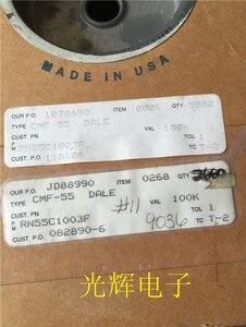 Image 2 - 20PCS USA VISHAY DALE CMF55 0.25W 100K 1% Axial Resistance CMF 55 1/4W 100k RN55 military regulations metal film resistor