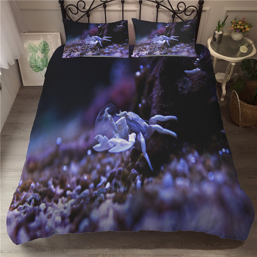 A Bedding Set 3D Printed Duvet Cover Bed Set Underwater World Home Textiles for Adults Bedclothes with Pillowcase #HDSJ03