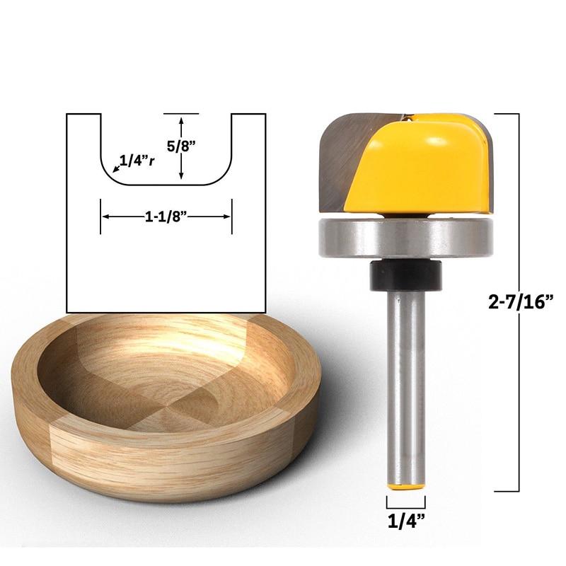 Leokk Bowl And Tray Template Router Bit Bottom Woodwork Cutter