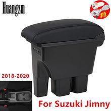 Reposabrazos retráctil de doble capa con luz led, caja de reposabrazos integrada sin perforación, USB, para Suzuki Jimny 2020 2019 2018 JB74