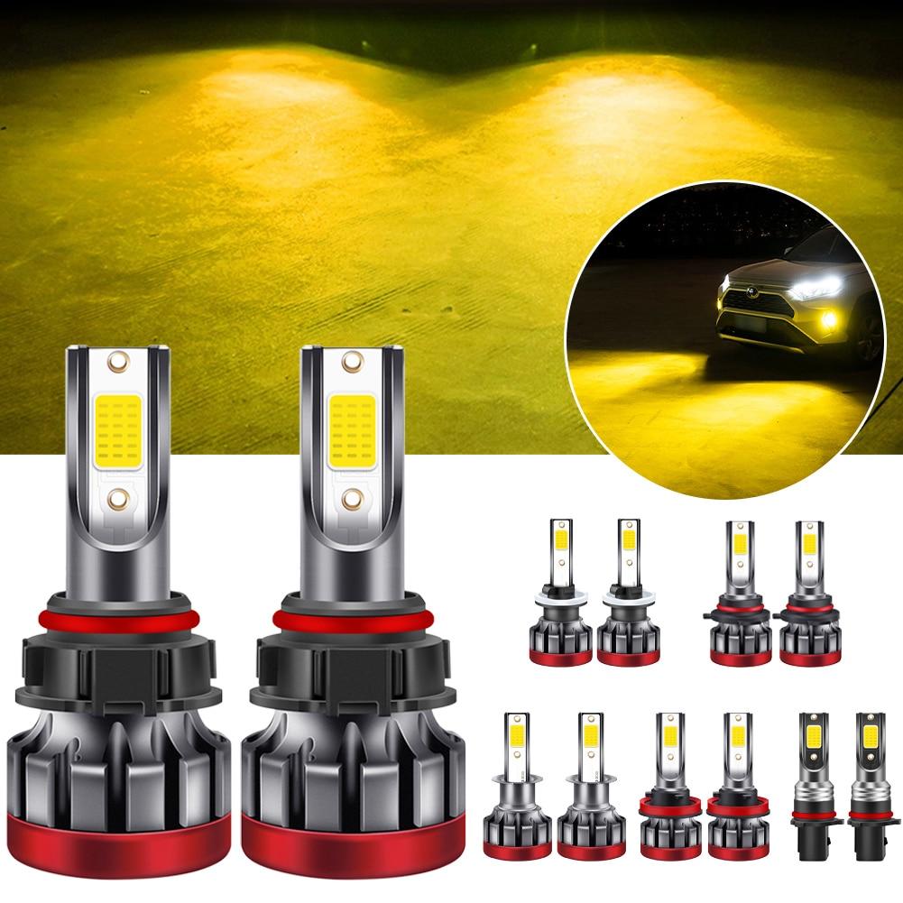 De alta potencia 2 uds PS24W 5202 h16 (UE) 2504, 5201, 5301, 5202 PS19W LED bombillas de luz antiniebla extremadamente brillante 50W COB Chipset 3000K