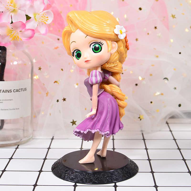 Q Posket Boneka Putri Ariel Tangled Rapunzel Elsa Anna Figures, Mainan Boneka Cantik Mainan Kue Topper Kue Dekorasi Pesta Ulang Tahun