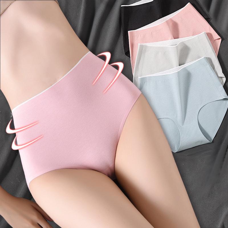 High waist Women's underwear cotton Plus Size seamless panties breathable Lingerie Female briefs