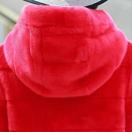 Топ бренд кролик Wth Rex капюшон размера плюс шуба N47 высокое качество