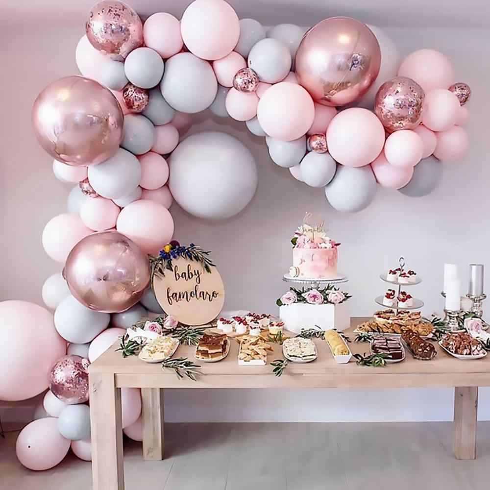 169 قطعة بالونات معكرون القوس جارلاند الوردي الذهب النثار بالون الزفاف عيد ميلاد بالون حفلة عيد ميلاد ديكور الاطفال استحمام الطفل