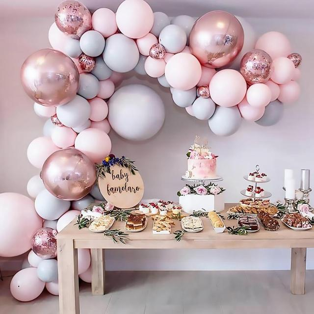 169pcs Macaron Balloons Garland Arch Rose Gold Confetti Ballon Wedding Birthday Baloon Birthday Party Decor Kids Baby Shower