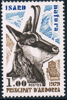 1Pcs/Set New French Andorra Post Stamp 1979 Antelope Stamps MNH image