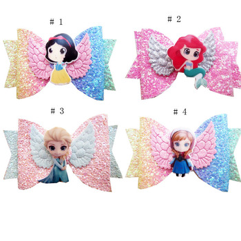 New hot-selling Disney hairpin Frozen Princess Aisha Ana angel wings temperament cartoon cute hair accessories