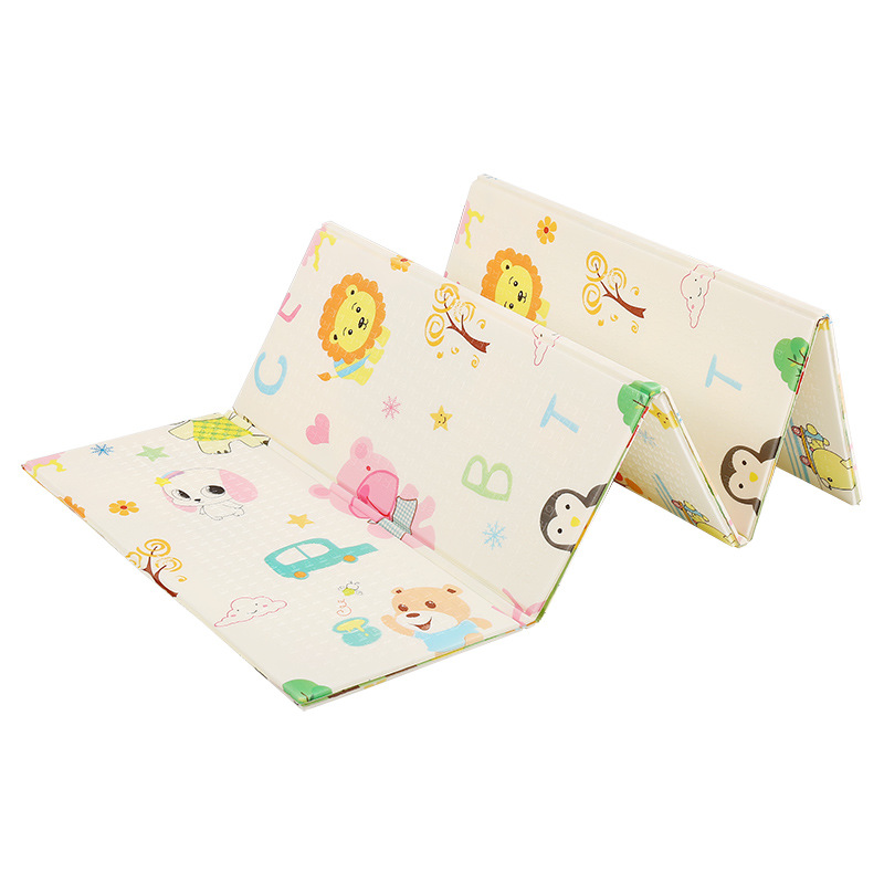 Cartoon Foam Floor Mat Double-sided Environmental Protection Infant Child Climbing Mat Folding Xpe Baby Crawling Mat Thickening