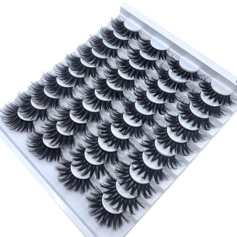 HBZGTLAD 20 pairs natürliche falsche wimpern gefälschte wimpern lange make-up 3d nerz wimpern wimpern verlängerung nerz wimpern für schönheit