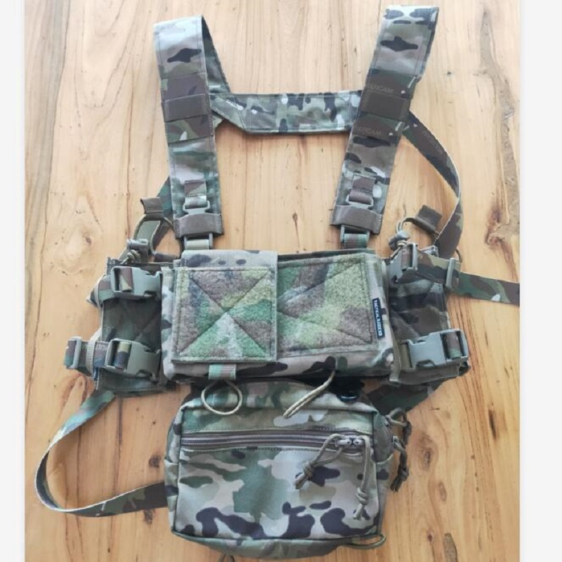 Multicam/Brown Tactical Airsoft SS Micro Fight Chassis MK3 MK4 Chest Rig 500D