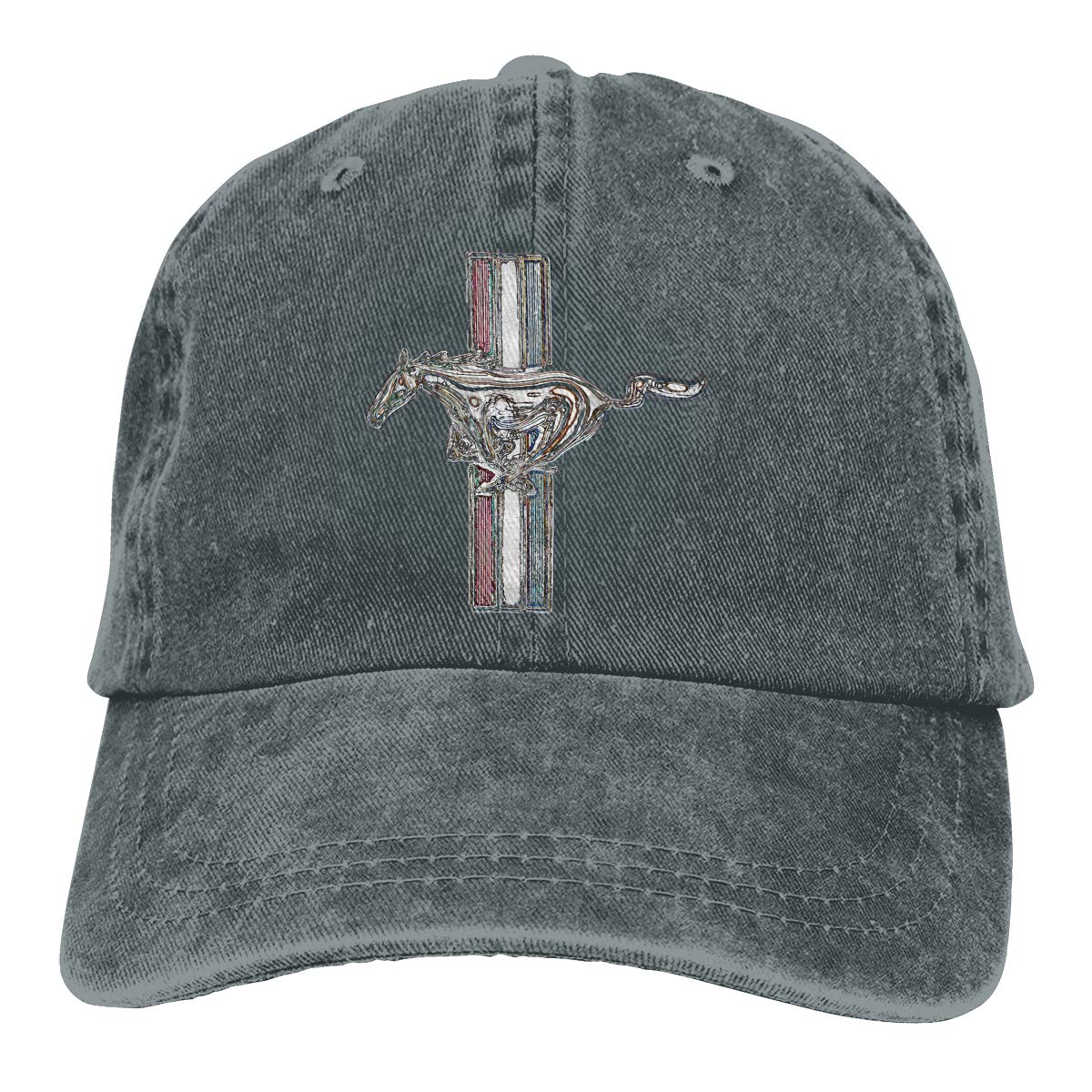 Ford Mustang, Colored Logo Neutral Adjustable Baseball Cap