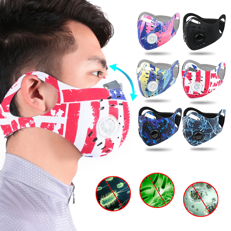 In Stock Reusable Cotton Mouth Mask Face Cover Respirator Mask With  Filter Mask