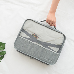 Image 5 - 男性旅行バッグセット防水パッキングキューブポータブル衣類オーガナイザー女性旅行バッグ手荷物アクセサリー製品