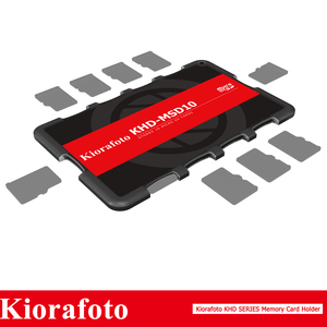 Image 2 - Kiorafoto Camera Accessories Memory Card Holder SD/MSD/Micro SD/TF Protector for Canon 1300d/Nikon D5300/Sony A6000 Lightweight