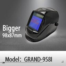 Auto verdunkelung schweiß helm/schweiß maske/MIG MAG WIG (Grand-918I/958I)/4arc sensor/solarzelle & Austauschbare Li-batterien