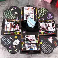 Bombe Box Hexagonal Multilayer Überraschung Geständnis DIY Sammelalbum Papier Fotoalbum Jahrestag Geschenk De Foto Fotoalbum