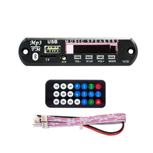 Car Audio FM Radio TF USB 3.5 mm AUX Module Wireless Bluetooth 5V 12V MP3 WMA Decoder Board Player with Remote Control
