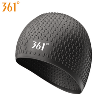 361 Silicone Large Swimming Caps for Adult Men Women Long Hair Swimming Pool Cap Waterproof Ear Protection Water Swim Hat retro floral swimming cap hair protection gear bathing caps for women ladies to keep hair dry