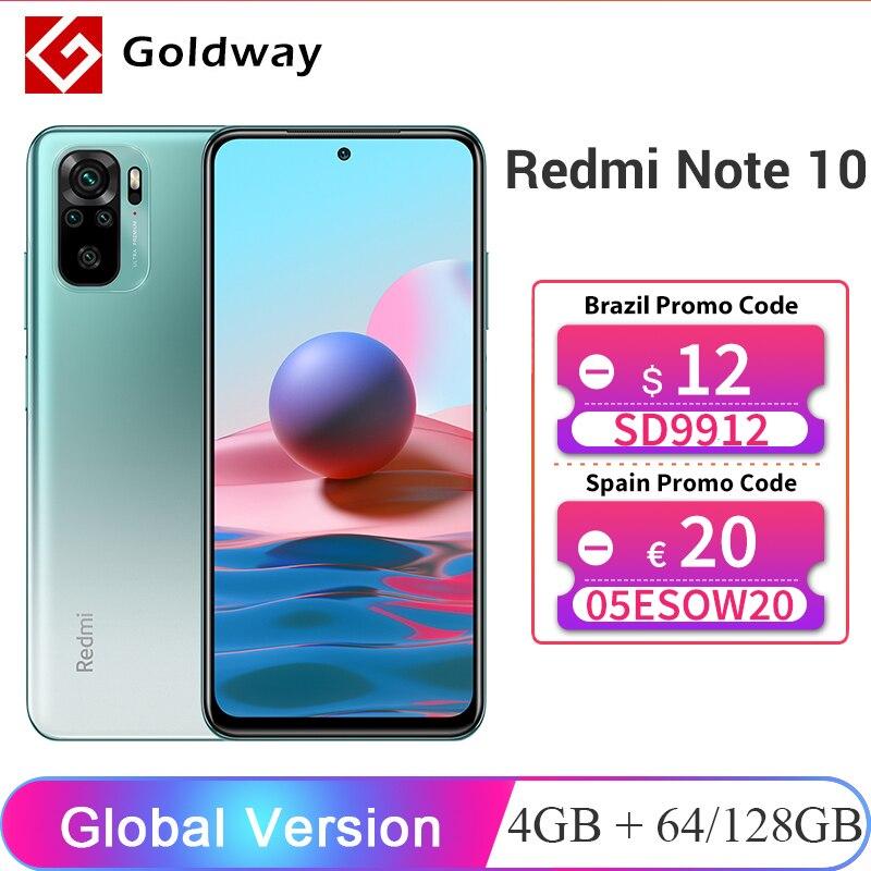 """Глобальная версия Xiaomi Redmi Note 10, 4 Гб RAM, 64 ГБ/128 ГБ ROM мобильный телефон Snapdragon 678 6,43 """"активно-матричные осид дисплеем 48MP Quad Camera"""