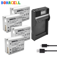 цена на Bonacell 7.2V 1400mAh NB-10L Batteries + LCD Charger for Canon G1X G15 G16 SX40HS SX50HS SX60HS SX40 SX50 SX60 HS camera battery