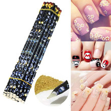 1 pièces Nail Art Design cire stylo Pick Up Point perceuse crayon bâton strass Picker stylo clou pointillage outil perles gemmes goujons Picker