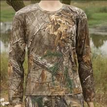 Мужская быстросохнущая дышащая камуфляжная футболка с листьями