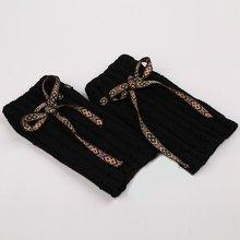 Теплые гетры защитные рукава шерстяные сапоги рукава вязаные гетры наборы Богемия прочный прямой шнур чулки