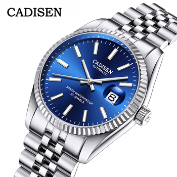 2020 CADISEN Mens Watches Top Brand Luxury Automatic Watch Men Sport Watches For Men Waterproof Business Clock relogio masculino loreo mens watches top brand luxury business automatic mechanical watch men sport submariner waterproof 200m steel clock 2018