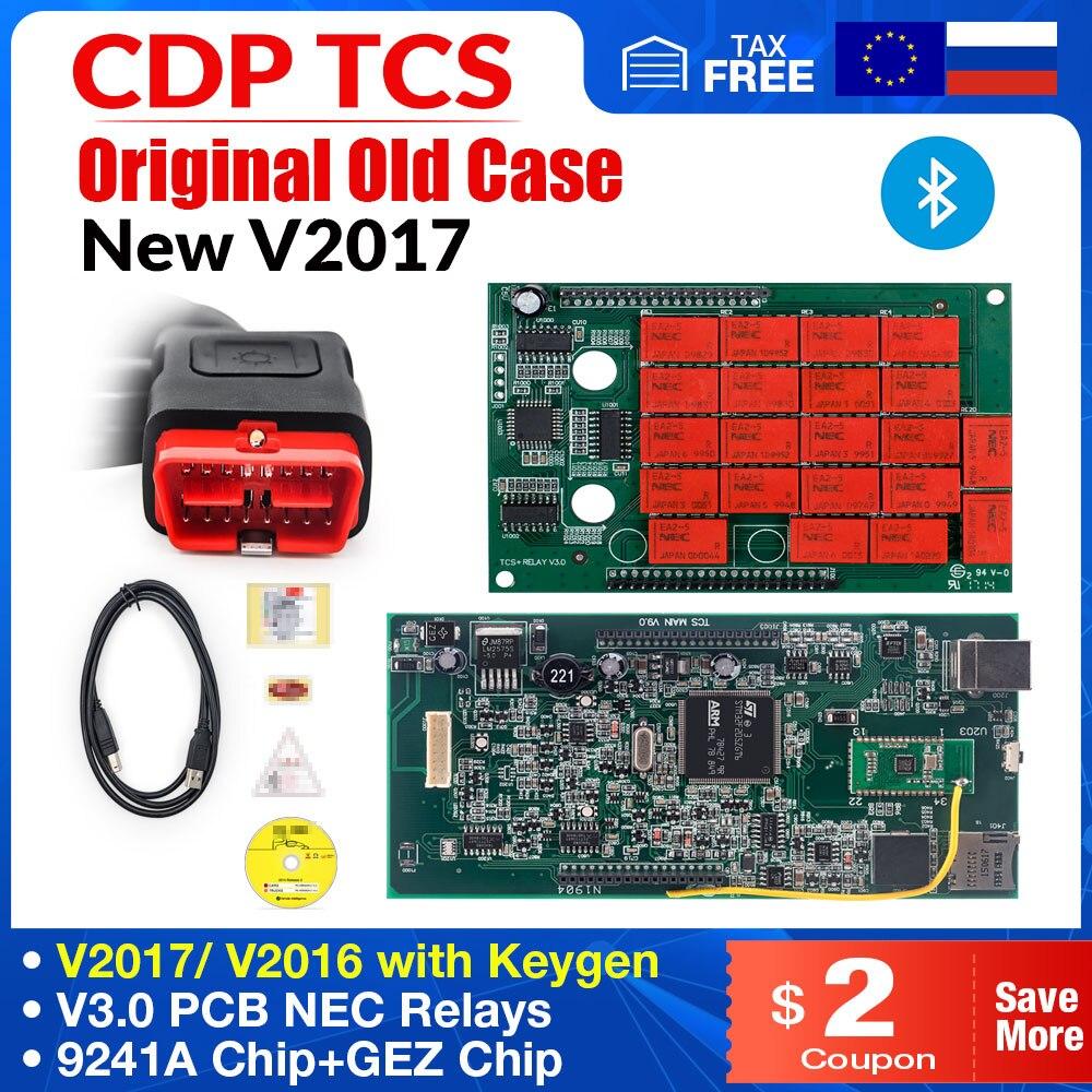 CDP TCS V9.0 плата OBD2 автомобильный Грузовик v3.0 NEC релейная плата multidiag pro Bluetooth obd ii сканер 2017 программное обеспечение Авто диагностический инстру...