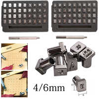 36pcs A-Z 1-10 Carbon Steel Letter Alphabet Numbers Stamps Punch Set Metal Leather Tools Leathercraft 4mm/6mm Optional