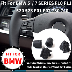 Volante multifunción para coche, perilla de Control de tecla de botón izquierda y derecha para BMW 3/5/6/7-Series F30 F35 F10 F11 F18 F12 F13 F01 F02