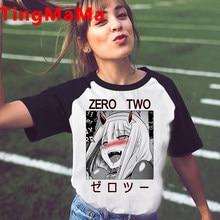New Japanese Anime Darling In The Franxx T-shirt Women Kawaii Cartoon Zero Two T Shirt Harajuku Unisex Summer Tops Tshirt Female