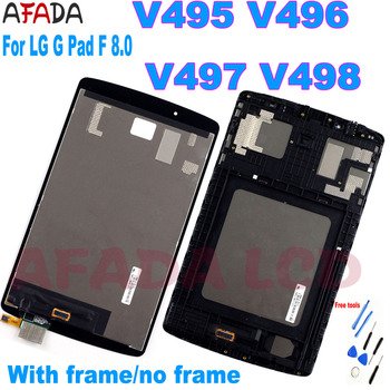 For LG G Pad F 8.0 V495 V496 V497 V498 LCD Display Touch Screen Digitizer Sensor Panel Assembly Replacement Part for lg g pad lg v700 vk700 v700 touch screen digitizer glass replacement free shipping