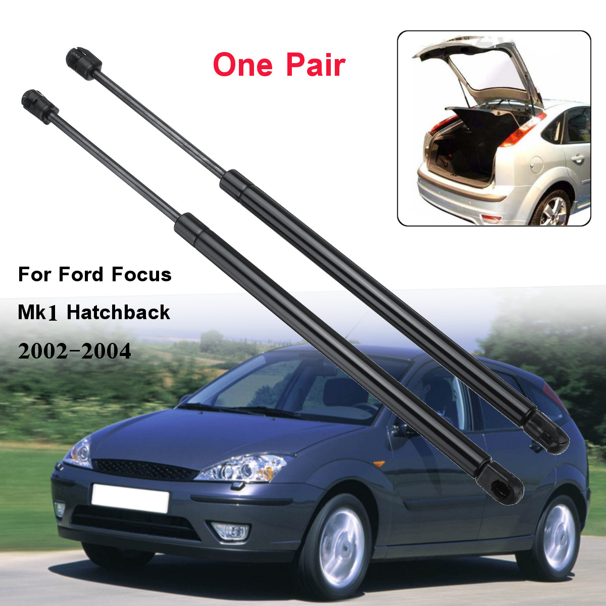 2 adet araba arka bagaj kapağı bagaj gaz desteklerİ desteğİ Ford Focus için Mk1 Hatchback 1998 1999 2000 2001 2002 2003 2004
