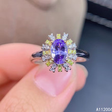 KJJEAXCMY fine jewelry 925 sterling silver inlaid natural Tanzanite ring delicate new female gemstone ring luxury support test tbj romantic small ring with natural good color blue tanzanite gemstone girl ring in 925 sterling silver fine jewelry for women