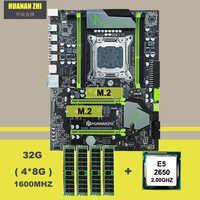 Comprar placa base de marca HUANAN ZHI ATX X79 Placa base con M.2 ranura CPU Intel Xeon E5 2650 C2 2,0 GHz RAM 32G (4*8G) 1600 REG ECC