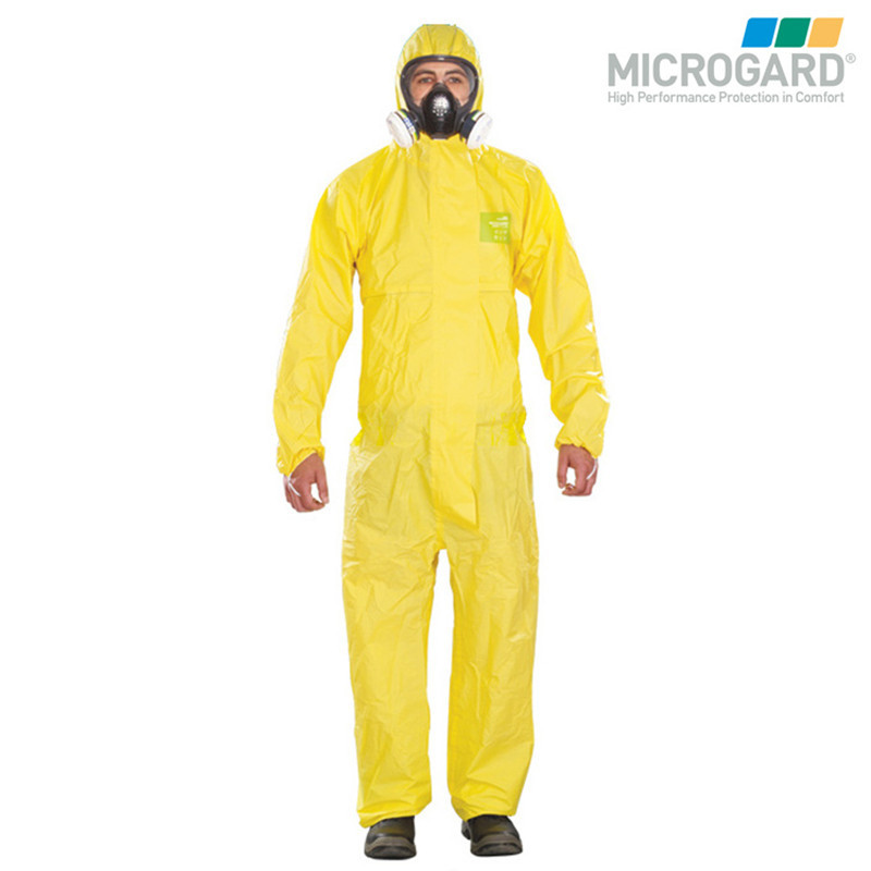 Supply Microgard 2300 Chemical Protective Clothing One-piece Hooded Waterproof Chemical Protective Clothing-Proof Alkaline Paint